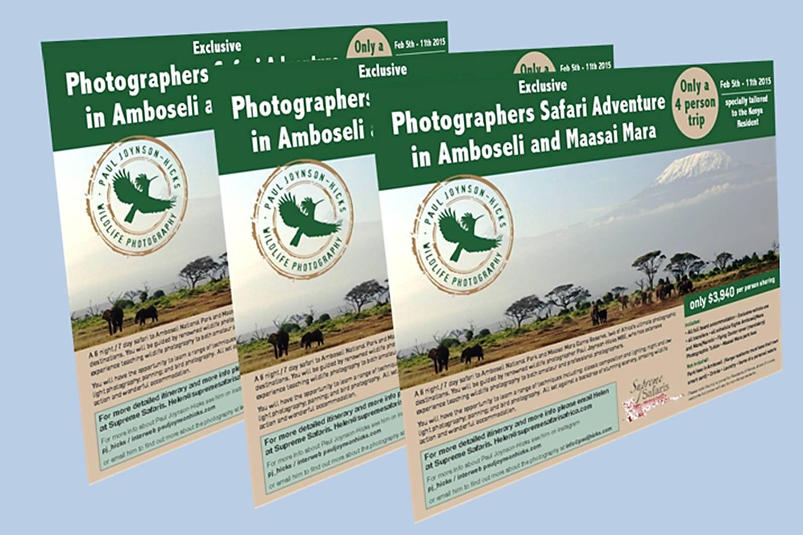 three postcards
