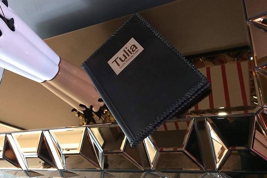 Leather binder, folder, beauty, salon, spa