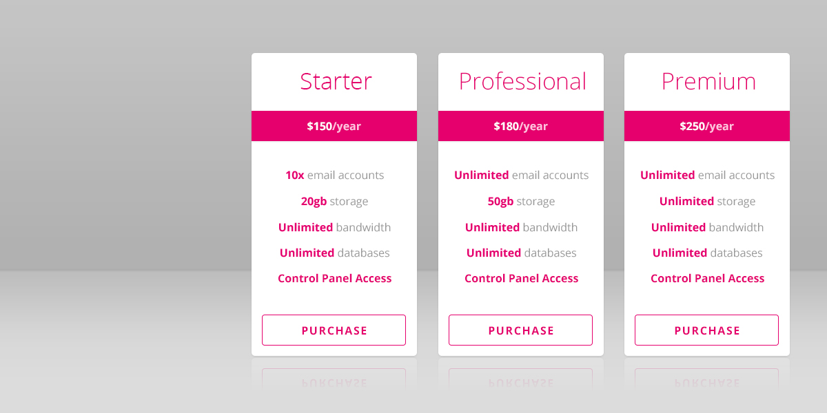 pink, white, pricing, banners